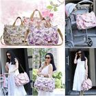 Baby Diaper Bag Mummy Shoulder Handbag With Coin Purse Changing Pad Liner M8O6