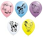 "Pack of 5 FARM ANIMALS (Choice of Animal) 11"" Party Balloons - Qualatex"