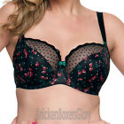 Curvy Kate Lingerie Cherie Balcony Bra Black Cherry Print 4201 NEW Select Size