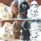 New Star Wars Figures Keyring Keychain BB-8 Darth Vader Stormtrooper Chewbacca $9.79 AUD