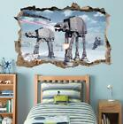 Star Wars Battle Of Hoth Smashed Wall Decal Removable Wall Sticker Art Hole H280