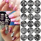 60 Style Round Nail Stamping Plate for Manicure Degisn Image Metal DIY Resusable
