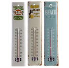 Thermometer Blech Retro Blechschild Wandthermometer Beach Bar Bier TOP