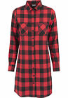 URBAN CLASSICS Abito Camicia donna Ladies Checked Flanell Shirt Dres TB1216