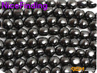 Natural Black Hematite Magnetic Jewelry Making Design Craft Beads Gemstone 15""