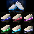 2016 LED Light Lace Up Luminous Shoes Sportswear Sneaker Casual Flat Shoes New