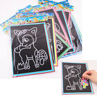 1/2/6/10 Magic Scratch Art Painting Paper With Drawing Stick Kids Educational JR