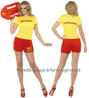 8-18 Official Baywatch Lifeguard Costume 80s Ladies Fancy Dress Outfit Hen Night