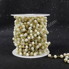 16Ft 5~6mm Light Yellow-Green Quartz Bead Chains DIY Jewelry Findings AJT024