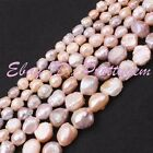 """Natural Multicolor Lumpy Freeform Freshwater Pearl Gemstone Spacer Beads 15""""/Lot"""