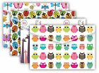 TIGER Stationery A4 Printed Stud Wallet Documents File (Ladybird/Butterfly/Owl)
