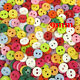 Top Quality 2 Holes Resin Sewing Buttons Scrapbooking Carft Multicolor 9mm