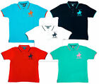 Boys Cargo Bay Polo Horse Applique Collared T-Shirt Cotton Top 2 to 13 Years