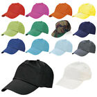 PACK OF 10 CLASSIC BASEBALL CAP 5 PANEL COTTON ADJUSTABLE HAT BN