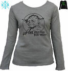 Yoda Star wars rude black grey Long sleeve Funny T-shirts Women's top size new $24.99 AUD