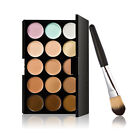 10/15/20 Colors Face Concealer Cream Palette Black Handle Foundation Brush Makeu