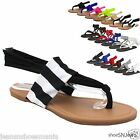 New Women Flip Flops Gladiator Lace Up Yoga Shoes Thong Flat Sling Back Sandals
