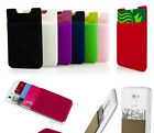 Flexible Pouch ID/Credit Card Holder 3M Adhesive Case For iPhone Samsung Model