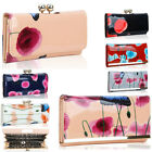 Women's Poppy Flower Patent Butterfly Print Purses Coin Kiss Lock 1501 686605