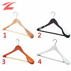 TOP 10 Pcs Wooden Coat Hangers Suit Trouser Garment Wood Clothes Hanger With Bar