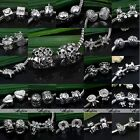 Tibetan Silver Metal European Charms Spacer Beads Findings For Jewelry Gift DIY