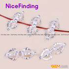 Buddhist Tibetan Silver Jewelry Making Spacer Craft Beads Findings Charm 10pcs