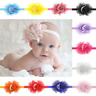 Baby Lace Headband Chiffon Flower With Pearls Headwear Infant Hair Accessories