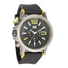 AK Left Hand Crown 50mm Big Dial Black Silicon Rubber Band Mens Army Sport Watch