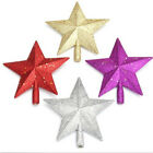 4 Colors Choose Glitter Star Christmas Tree Topper Decoration Christmas