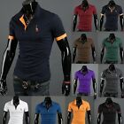 Classic Men's Slim Fit Short Sleeve Polo Shirt Summer Casual T-Shirt Tops Tee