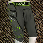 NEW Exalt Paintball FreeFlex Padded Compression Slide Shorts - Grey/Lime Green