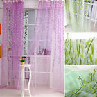 Tree Willow Curtains Blinds Voile Tulle Room Curtain Sheer Panel Drapes JR