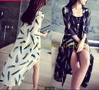 Womens Elegant Chiffon Long Thin Cloak Outwear Beach Summer Sunscreen Loose Coat