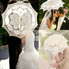 Beautiful Vintage Handmade Lace Parasol Umbrella For Bridal Wedding Decorations