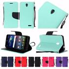 For ZTE Grand X3 Z959 N9519 Premium PU Leather Wallet Flip Cover Case