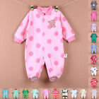 Newborn Baby Kids Clothes Long Sleeve Romper Jumpsuit Sleepsuit Playsuit Outwear
