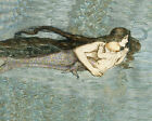 Mermaid Mother with Baby and Seahorse Ocean 16X20 Vintage Poster Repro FREE SH
