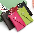 Men Women Leather Wallet Car Key Chain Holder Accessory 6 Ring Pouch Purse Case