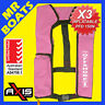 3 x AXIS INFLATABLE LIFEJACKET -PINK- 150N PFD1 OFFSHORE Manual Jacket FREE POST
