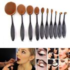 Pro Oval Cosmetic Beauty Makeup Brush Shaped Foundation Powder Cream Set Tool