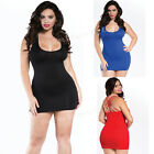 Plus Size Lingerie Queen Size Black, Blue or Red Valentines Chemise R157X
