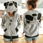 Lovely Panda Ears Womens Hoodie Outwear Kigurumi Sweat Sweatshirt  Pocket 7055