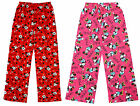 Girls Disney Minnie Mouse Cotton Lounge Pants Pyjama Bottoms 7 to 13 Years