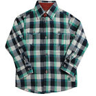 Timberland Long Sleeve Boys Kids Children Cotton Check Shirt T0165 408 R21B