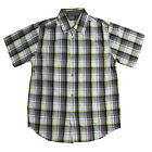 Timberland Short Sleeve Boys Kids Children Cotton Check Shirt T2D90 316 R21B
