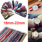 Unisex Steel Buckle Waterproof Straps Sport Wrist Watch Band Multi-color 18-22mm