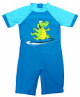 Boys Toddler Surf Crocodile All in One Sunsafe Swimsuit Costume 2 to 6 Years