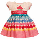 Bonnie Jean Girls Princess Polka Dot Cupcake Birthday Party Dress 12M - 4T New