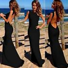 Sexy Women Dress Prom Ball Cocktail Party Dress Formal Evening Gown Long BLA MT