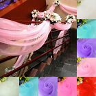 Organza Sheer Fabric Roll Max to 50m*75cm Chair Sash Bows Table Runner Wedding